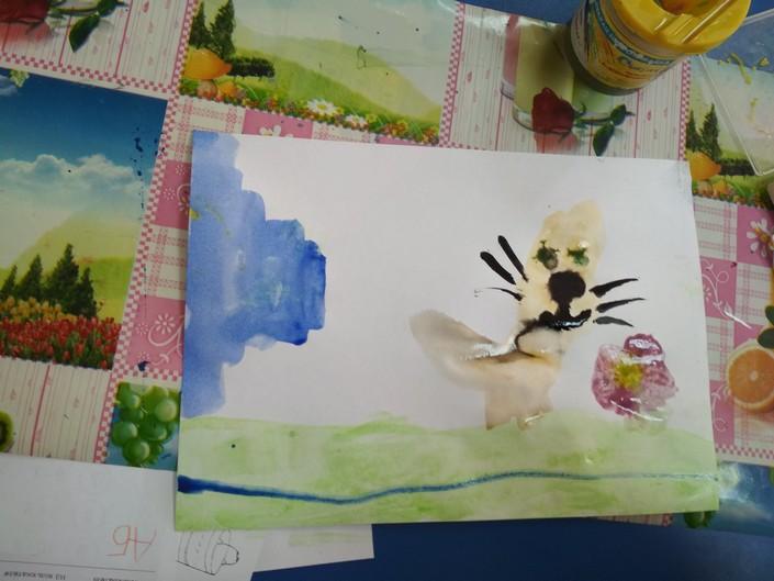Дитячий малюнок кота фото