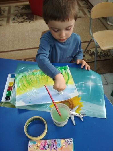 Малюємо кульбабу фото